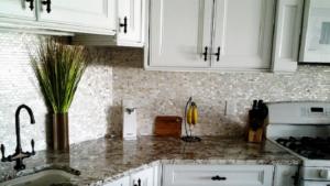 SHELLZ kitchen backsplash.